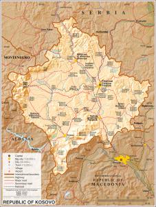 Harta Topografike e Kosoves