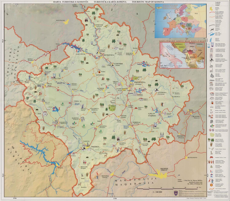 Harta Turistike e Kosoves.