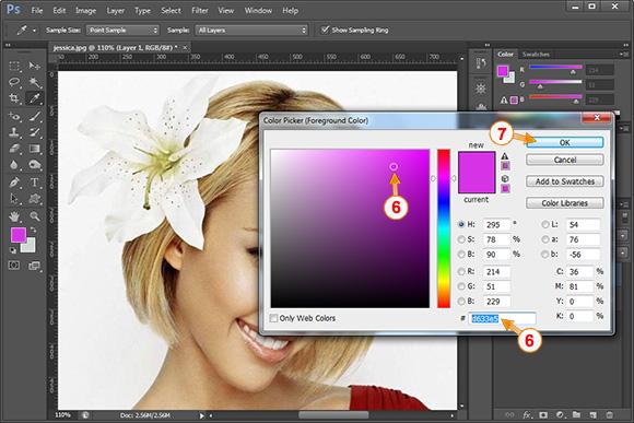 zgjedhim ngjyren e flokeve tek colors palete