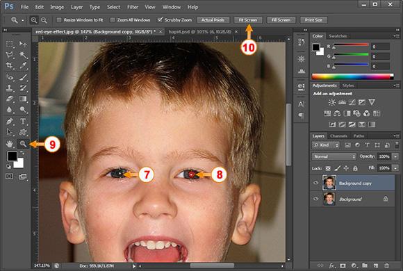 Si te heqesh syte e kuq me photoshop - Hapi 4