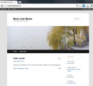 Faqja e instaluar e wordpress