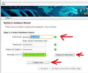 Krijojme user-in per database