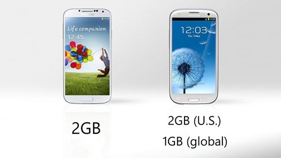 Ram i Galaxy S4