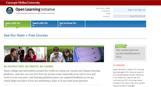Carnegie Mellon Open Learning Initiative
