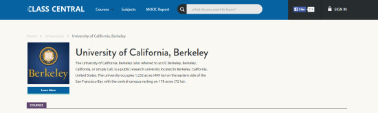 UC Berkeley Class Central